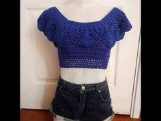 Crosetam un top de vara din bumbac-How to crochet a summer top