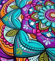 Dot Art Painting, Painting & Drawing, Abstract Art, Tin Art, Mandala Dots, Arabesque, Zentangle, Doodles, Pandora