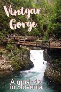 Vintgar Gorge in Slovenia, slightly less known than Lake Bled but only a few minutes away, must do! #slovenia #vintgargorge #waterfalls