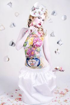 Tea Time :)  Body Paint by Andrea O'Donnell  www.SkincognitoStudio.com  Photo by Tana Helene Photography