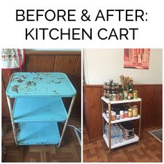 Before and After: Kitchen Cart