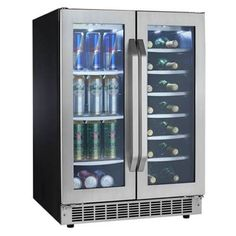 DBC7070BLSST- Danby Dual Zone 5.0 Cu. Ft. Built-In Beverage Center