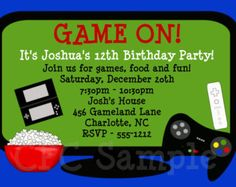 14 Best B Day Ideas Images Xbox 2nd Birthday Bday Party Rh Com Invitations Moving Up Invitation