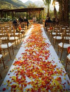 Fall Weddings»29 Awesome Wedding Aisle Decorations for Fall    Wedding