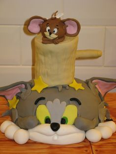 This is a Tom and Jerry Cake I made for my son's 3rd Birthday