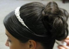 Up-do's with headbands :  wedding hair Hair 1