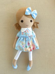 Reserved for Stephanie Fabric Doll Rag Doll Light by rovingovine