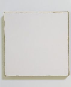 Robert Ryman, Untitled, 1965, enamel on linen, 26 cm