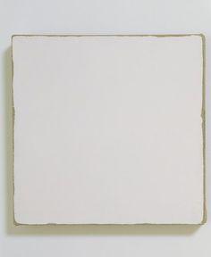 "Robert Ryman, ""Untitled"" (1965) | painting | enamel on linen Source: http://www.sfmoma.org/explore/collection/artwork/22933#ixzz1jCClB7c7 San Francisco Museum of Modern Art"