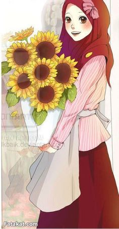 The hijab is a covering for Muslim women to protect their modesty. The hijab… Hijab Anime, M Anime, Anime Art, Muslim Girls, Muslim Women, Deviantart Drawings, Hijab Drawing, Girl Cartoon Characters, Islamic Cartoon