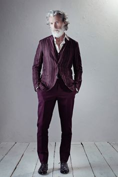 Berluti Spring 2014 Men's Collection - any look works if you have Zeus hair and a matching beard. But also - burgundy jackets..