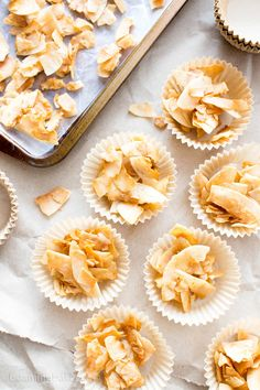 4 Ingredient Salted Caramel Toasted Coconut Chips (V, GF, Paleo): an easy, 5-minute prep recipe for crispy, salty 'n sweet coconut chips caramelized to perfection. #Paleo #Vegan #GlutenFree #RefinedSugarFree #DairyFree | BeamingBaker.com