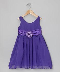 Another great find on #zulily! Purple Flower Sash Dress - Toddler & Girls #zulilyfinds