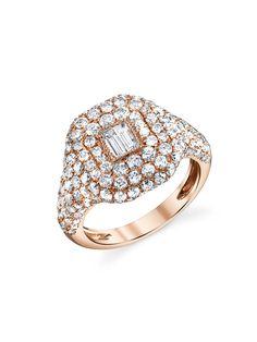 SHAY Jewelry - Pavé Diamond Essential Pinky Ring - Rose Gold
