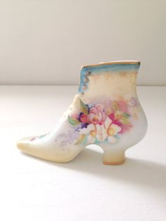 Vintage Porcelain Victorian Shoe / Boot by MariasFarmhouse on Etsy