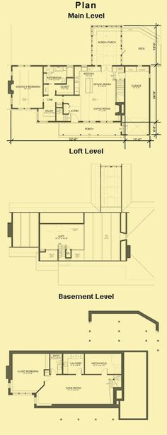 One Bedroom Floor Plans, One Level House Plans & Small House Plans