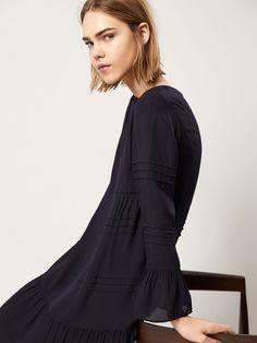 DRESS WITH PINTUCK DETAILS - Women - Massimo Dutti