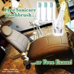 For a limited time, Lowman Family Dental is offering the following New Patient Specials: Free Exam (includes exam, consultation & necessary x-rays) OR Free Sonicare #Toothbrush (after paid exam, cleaning & x-rays). Visit our Facebook Offer for more details. #DentalExam