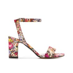 Tabitha Simmons Leticia Multi Tapestry Print Leather Sandal - Shop Luxury Shoes…