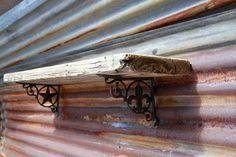 Rustic barnwood shelf primitive wall shelf