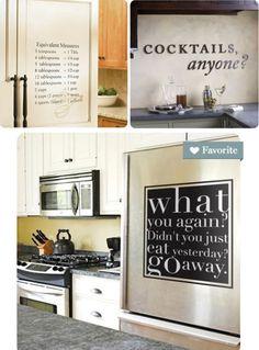 typographic graffiti for the kitchen