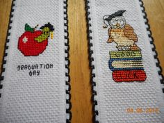 cross stitch bookmarks available in Etsy shop DebbyWebbysCards