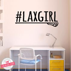 Decorate your space with this Removable LuLaLax lacrosse wall decal! Only from LuLaLax.com!