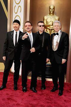 U2's The Edge, Bono, Larry Mullen Jr., and Adam Clayton.