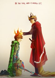 """synnesai: Red is your crown All hail the King No more a clown I cheered so loud when Gavin won! I wonder how he will """"rule"""" (▰˘◡˘▰) EDIT: Gavin's crown is """"on fire"""" cause you know he's a little fire starter but it doesn't hurt or whatever — it's """"""""""""""""""""magic"""""""""""""""""""""""""""""""""""" and yeah it's a bit DRAMATIC, but Ryan is the one yelling PSYCHOLOGICAL NONSENSE so YEAH!!! Go with it guys, go with it"""