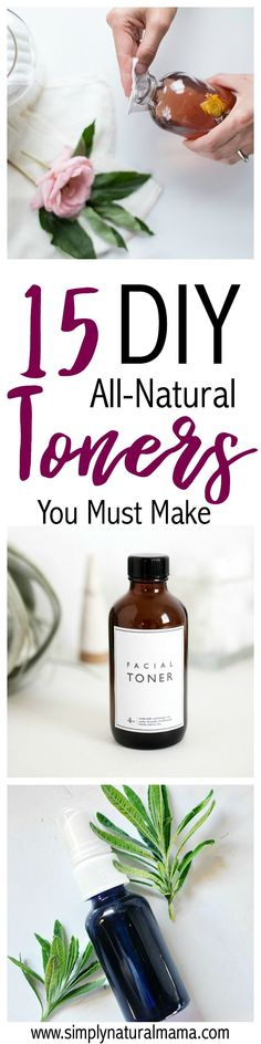 I have been looking for an easy, all-natural DIY toner. I am so glad that I found this post. Now there are 15 different toners and facial mists for me to try. I am so excited to get my face spray on! via @simplynaturalma #facelotion