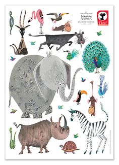 Wallstickers from KEK Amsterdam. Bring your wall to life with these beautifull illustrations by Fiep Westendorp. Very suitable for the childrensroom. Amsterdam, Wall Stickers Animals, Kids Wall Stickers, Picts, Nursery Inspiration, Nursery Ideas, Kidsroom, Wall Design, Decoration