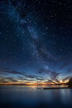 Milky way at twilight in Powell River, British Columbia, Canada. Twilight twinkle by Pierre Leclerc on 500px