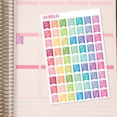 Planner Stickers  Bill Due Flags  Fits Any by PlannerStickerJubilo