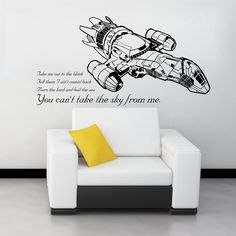 Wall decal - You can't take the sky from me.