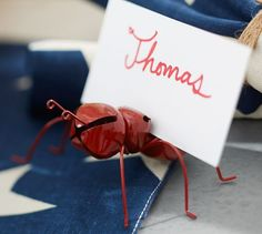 RED ANT PLACE CARD HOLDER, SET OF 4 free shipping new reg. price $22 sale $16.99