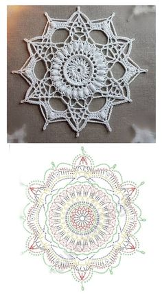Crochet Snowflake Pattern, Crochet Snowflakes, Crochet Flower Patterns, Doily Patterns, Crochet Motif, Crochet Doilies, Crochet Flowers, Free Crochet, Crochet Angels