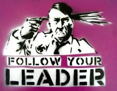 ... - Hitler Shooting Himself in the Head - Graffiti Stencil Indoors