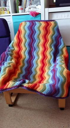 Special DK in Lipstick, Spice, Saffron, Meadow, Cloud Blue, Violet and Plum. The Ripple pattern is from Lucy at Attic24