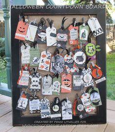 handmade Halloween tags ... great creativity ...  Stampin' Up!