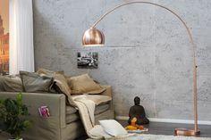 Arc lamp LOUNGE BOW copper floor lamp floor light standard lamp bottom lamp in Home, Furniture & DIY, Lighting, Lamps Copper Floor Lamp, Copper Lamps, Arc Floor Lamps, Lounge Design, Canapé Design, Studio Design, Salon Design, Retro Design, Design Ideas
