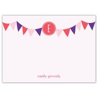 The Bunting Flags Personalized Flat Cards are the the perfect choice for brightening your stationery wardrobe! #personalizedstationery #customstationery #expressionery #thankyounotes #thankyoucards #flatcards