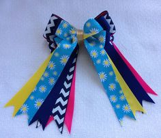 Chevron Horse Show Hair Bows by BowdanglesShowBows on Etsy