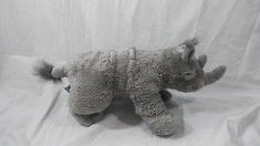 "Aurora World 14"" Plush Gray Grey Rhinoceros RHINO"
