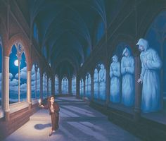 Illusions d'optique peintures Rob Gonsalves