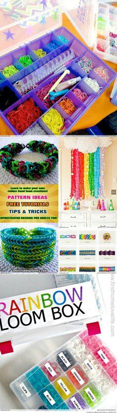 OMG! My daughter will scream over this! Amazing Rainbow Loom Ideas