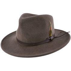 5df183b8d96f8 Scala DF6 Crushable Wool Felt Outback Hat Western Hats