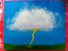 Cloud study #1. Acrylic paint. Tiffany 2013