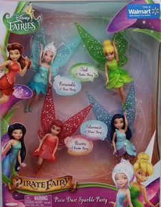 Buy Disney Fairies, The Pirate Fairy, Pixie Dust Sparkle Party Exclusive Figure Playset with discount. Sale only 7 days! Disney Descendants Dolls, Disney Animator Doll, Disney Dolls, Disney Princess Toys, Tinkerbell Toys, Disney Fairies, Toys For Girls, Kids Toys, Barbie Bike