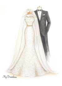Wedding Dress Sketches: Sketch Gallery