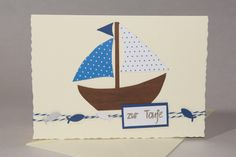 Baby & Geburt - Glückwunschkarte zur Taufe - ein Designerstück von Kikis-Papier-und-Stoff-Welt bei DaWanda